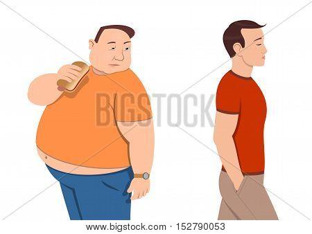 Overweight - Vector illustration - EPS .