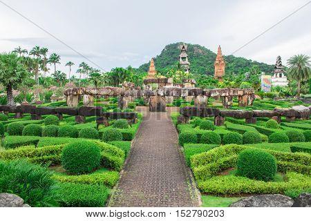 Pattaya THAILAND Sep 2016 : Stoneheng at Nong Nooch Garden Pattaya.