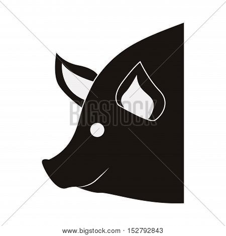 Pig icon. Animal farm and nature theme. Isolated design. Vector illustration