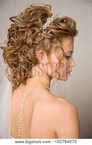 Beautiful Brides profile with a modern hairstyle