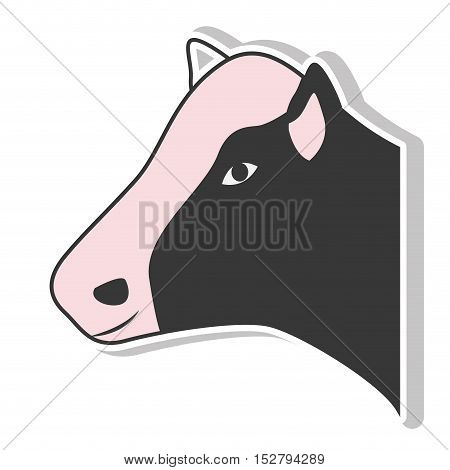 Cow icon. Animal farm and nature theme. Isolated design. Vector illustration