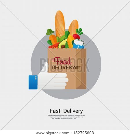 Food delivery business concept design.Vector illustration sign and symbol.