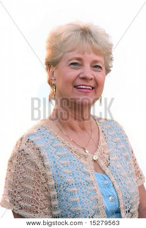 grandma, isolated on white.