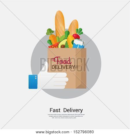 Food delivery business concept design. illustration sign and symbol.