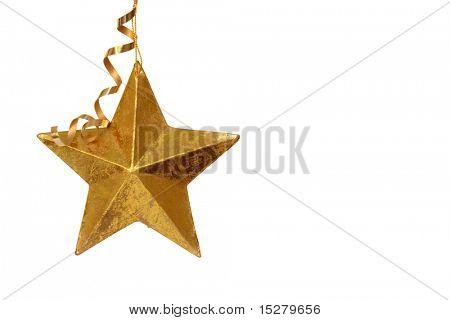 Golden Christmas star ornament.