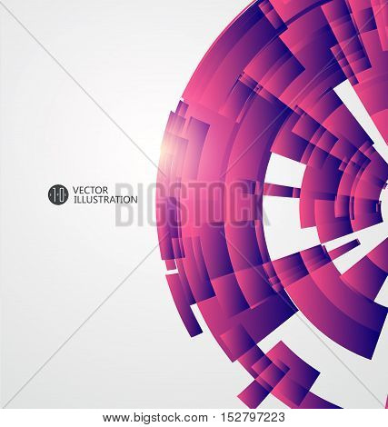 Blocks of abstract graphic composition,Radial abstract graphics vector illustration.
