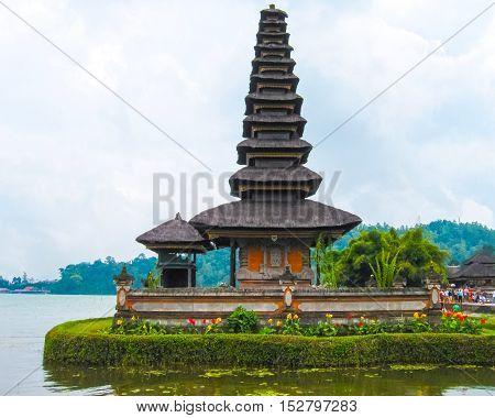 Pura Ulan Danu Beratan Water Temple in Bali Indonesia.
