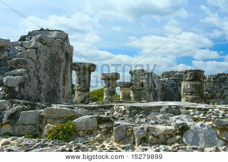 Mayan ruins in Tulum, Mexico.