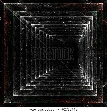 endlessfractal abstract endless tunnel marble color stretching away into the void marble tunnel