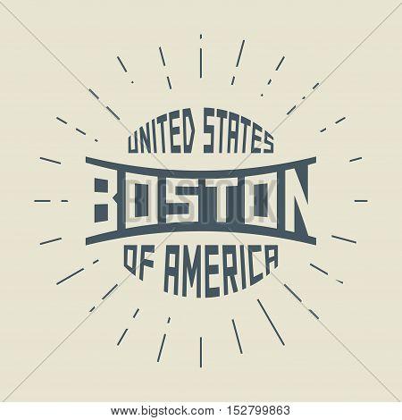 Grunge vintage round stamp with text Boston Massachusetts vector illustration