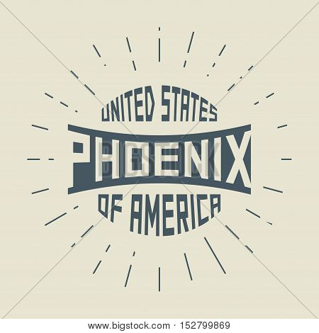 Grunge vintage round stamp with text Phoenix Arizona vector illustration