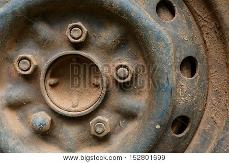 Old Metal Alloy Wheel Car Vehicle