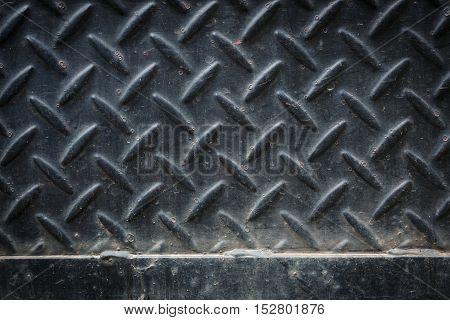Dirty Black Metal Plate
