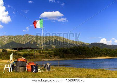 Campotosto lake and Monti della Laga - Aquila Italy