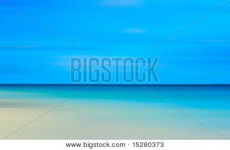 Beautiful beach blur