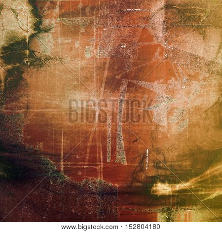 Old grungy stylish composition, vintage texture with different color patterns: yellow (beige); brown; gray; green; red (orange)