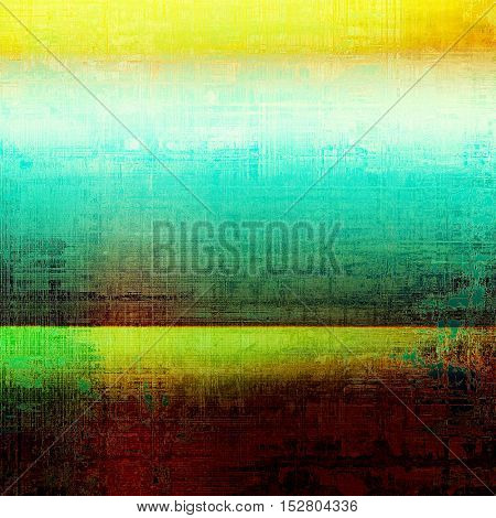 Grunge background with vintage style graphic elements, retro feeling composition and different color patterns: yellow (beige); brown; green; blue; white; cyan