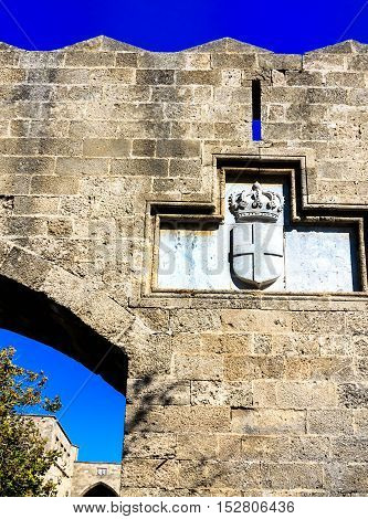 The Grand Masters of the Knights of Rhodes, a medieval castle of the Hospitaller Knights on the island of Rhodes, Greece