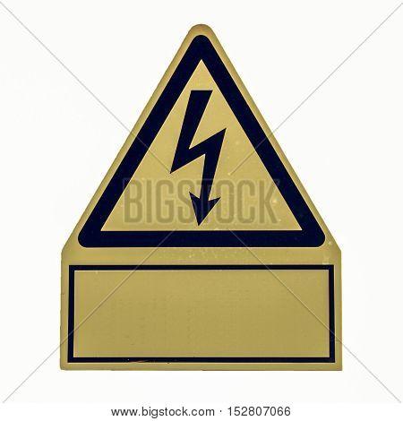 Vintage Looking Danger Of Death Electric Shock