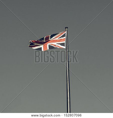 Vintage Looking Uk Flag