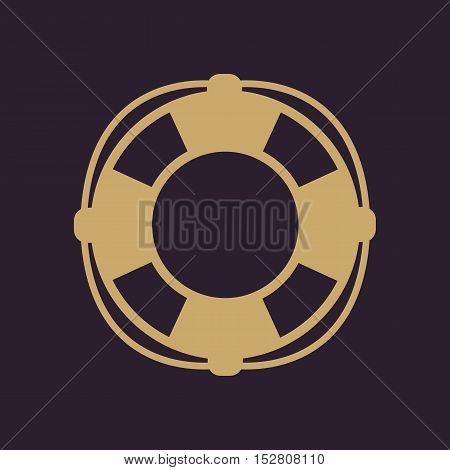 The lifebuoy icon. Lifebelt symbol. Flat Vector illustration