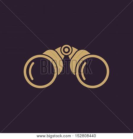 The binoculars icon. Search symbol. Flat Vector illustration