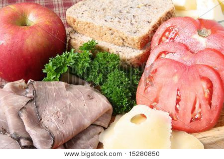 Roast beef sandwich ingredients