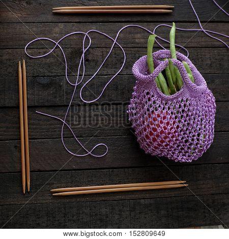 Knit Handmade Handbag From Yarn