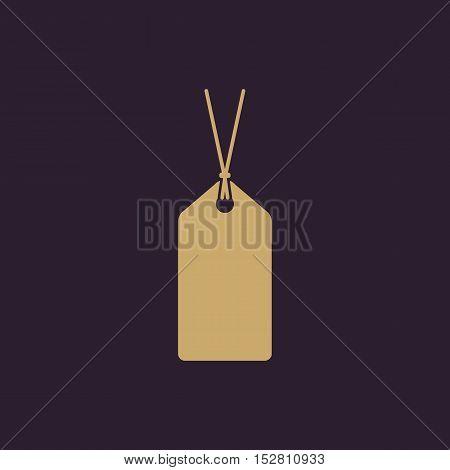 The price tag icon. Label symbol. Flat Vector illustration