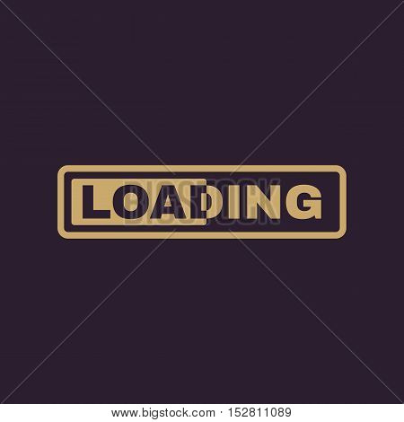 The loading icon. preloader symbol. Flat Vector illustration