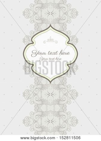 Vector abstract background and frame with sample text. Perfect as invitation or greeting. Easy to change colors.