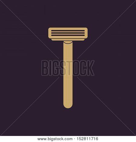 The shaving razor icon. Shaver symbol. Flat Vector illustration