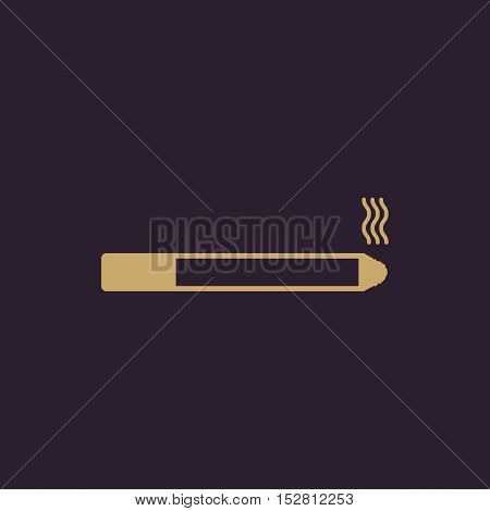 The smoking icon. Cigarette symbol. Flat Vector illustration