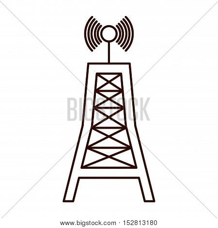 antenna communication tower structure. broadcast and media design. vector illustration