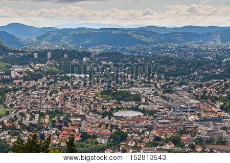 Bergen is the city on the west coast of Norway