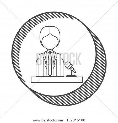 avatar man news journalist wearing suit and tie. vector illustration