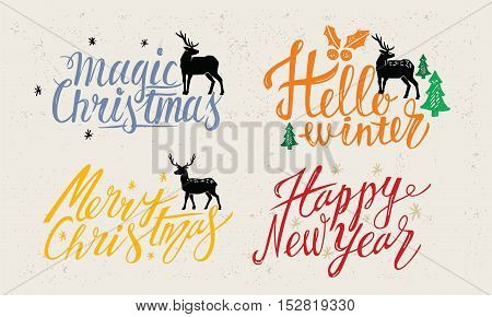Greeting card design vector for Happy New Year