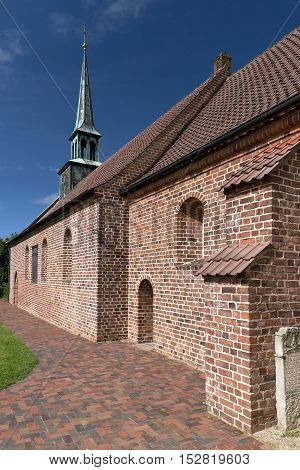 Church of St. Peter-Ording in northern  Germany