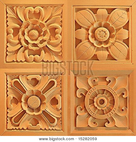 Sandstone flower shapes
