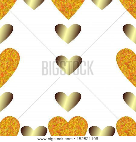 Creative background image of hearts in the form of square tiles (vector EPS 10)