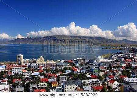 Downtown Reykjavik, Island.