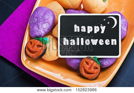 For Halloween candy and blackboard for writing greetings