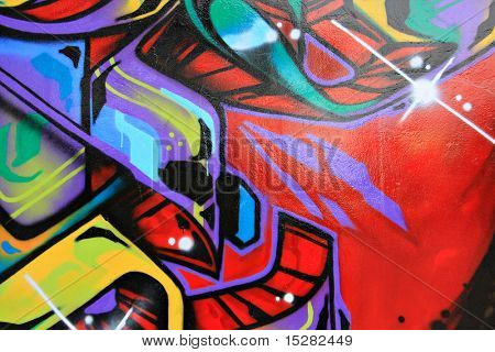 Urban graffiti wall