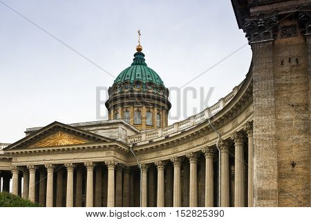 Kazan Cathedral, St. Petersburg, Russia architecture landmark