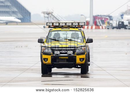 Follow Me Car At The Airport