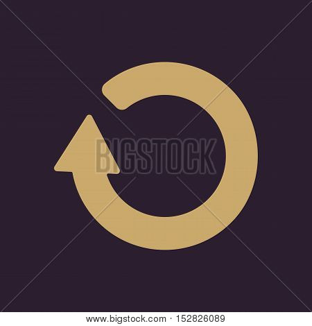 The refresh icon. Loading symbol. Flat Vector illustration