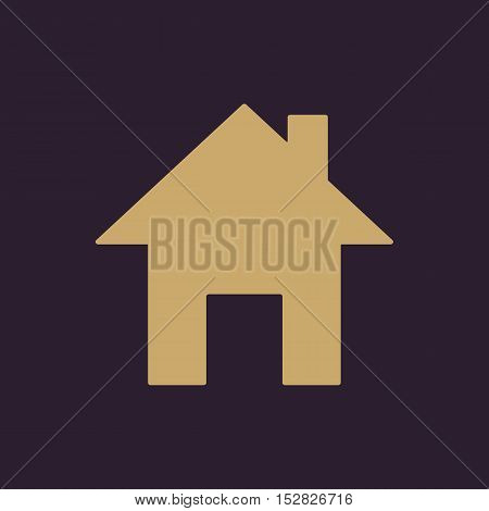 The home icon. House symbol. Flat Vector illustration. Button Set