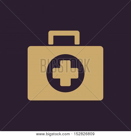 The medicine chest icon. Ambulance symbol. Flat Vector illustration