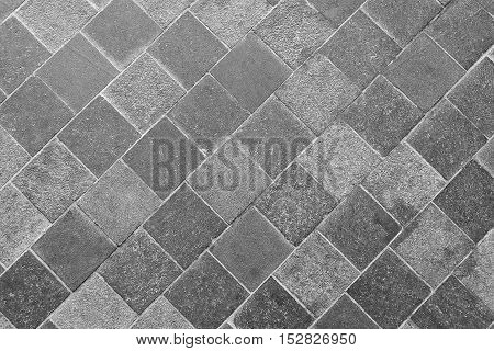Background Pattern Horizontal Gray Slate Stone Footpath Background or Texture.
