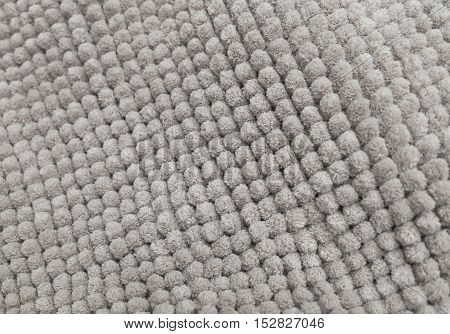 Fabric Texture Close Up of Gray Plush Fabric Texture Pattern Background.